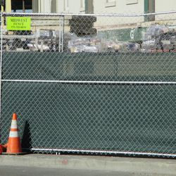 1:01 p.m. Another view showing what is out in front of the ballpark, under the marquee -