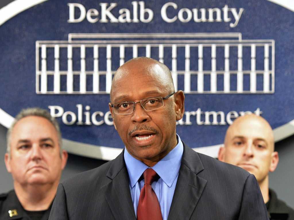 Cedric Alexander in April 2014 at a police news conference in Tucker, Georgia.   Hyosub Shin/Atlanta Journal-Constitution via AP