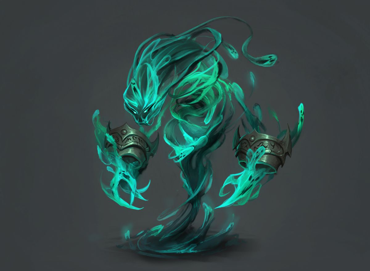 Death Elemental concept art for World of Warcraft Shadowlands