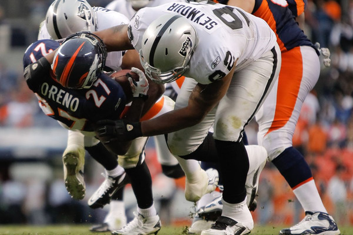 Richard Seymour doesn't charge for his chiropractic services.