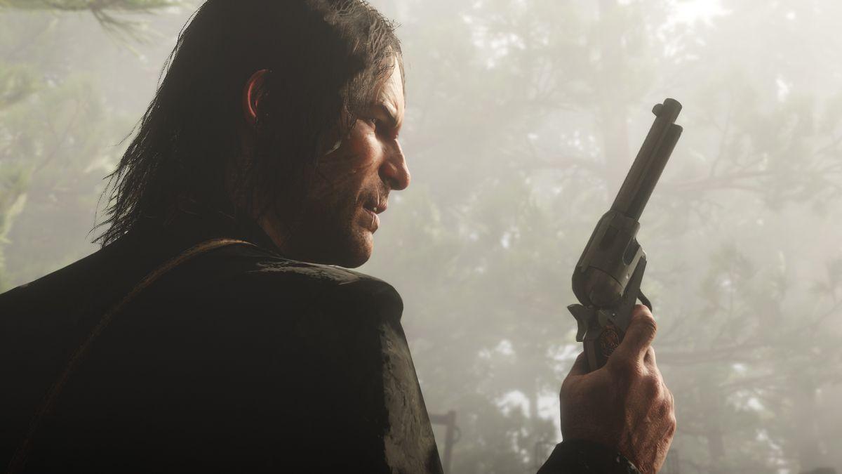 Red Dead Redemption 2 - John Marston holding a revolver