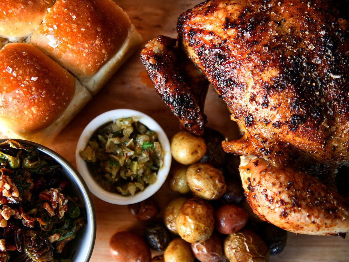 The rotisserie chicken at Swedish Hill