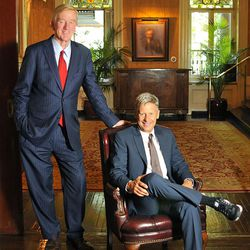 Libertarian presidential candidate Gary Johnson, right, and running mate Bill Weld.