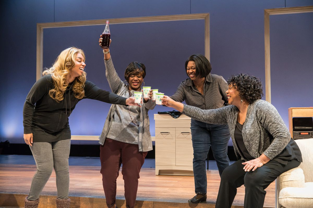 """Camille Robinson (from left), Greta Oglesby, Donica Lynn and Jacqueline Williams in Marcus Gardley's play,""""A Wonder in My Soul,"""" at Victory Gardens Theater. (Photo: Liz Lauren)"""