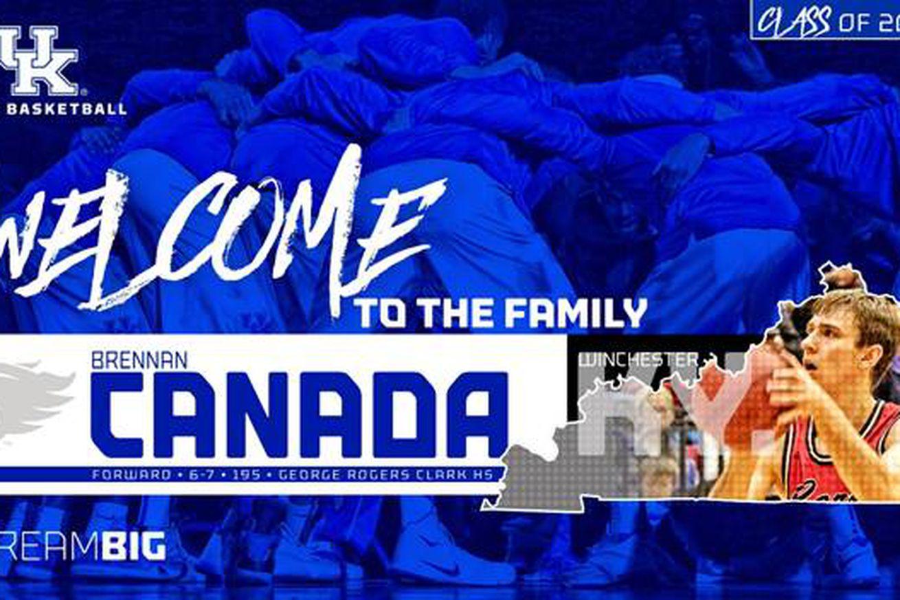 Brennan Canada joins UK as walk-on