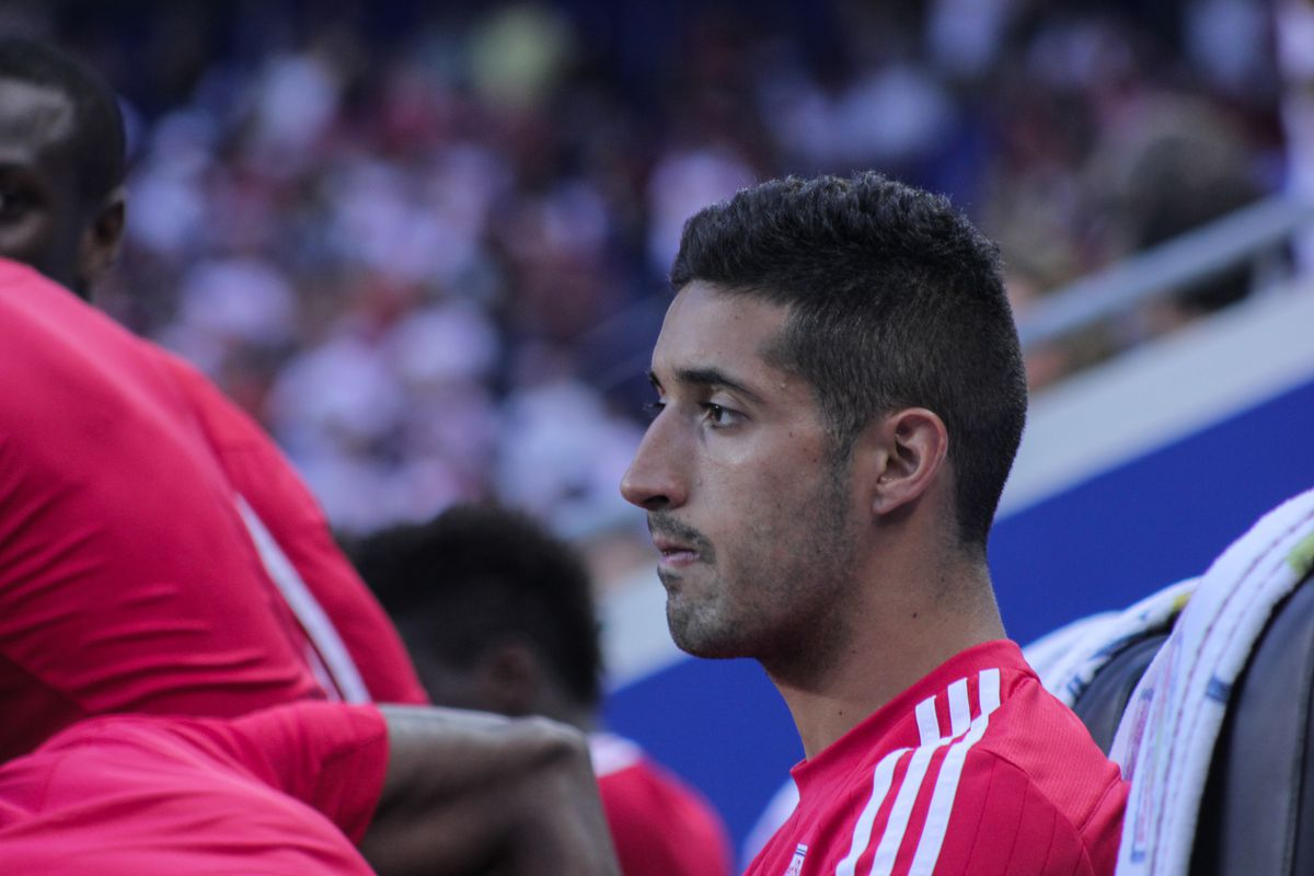 Gonzalo Veron on the bench before NYRB vs DCU, August 30th.