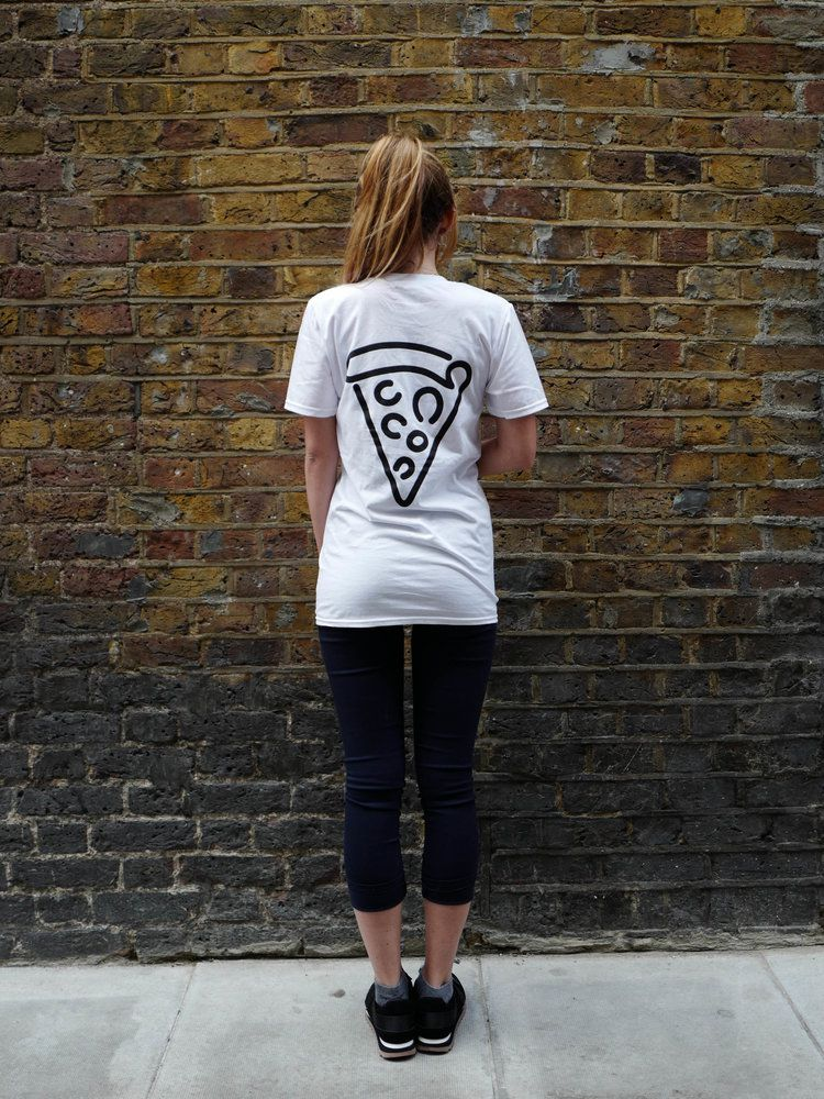 This t-shirt from Homeslice Pizza is some of the best restaurant merch to buy in London
