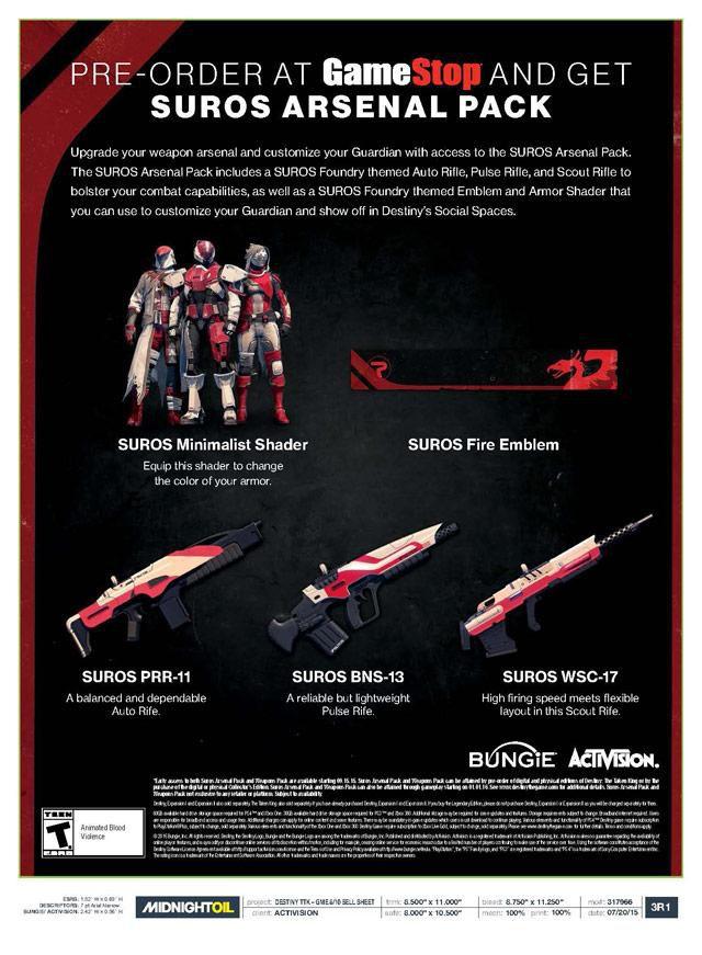 Destiny - Suros Arsenal Pack image 640