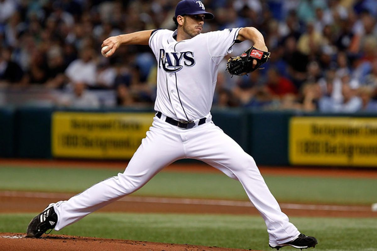 ST. PETERSBURG FL - SEPTEMBER 15:  Pitcher James Shields #33 of the Tampa Bay Rays pitches against the New York Yankees during the game at Tropicana Field on September 15 2010 in St. Petersburg Florida.  (Photo by J. Meric/Getty Images)