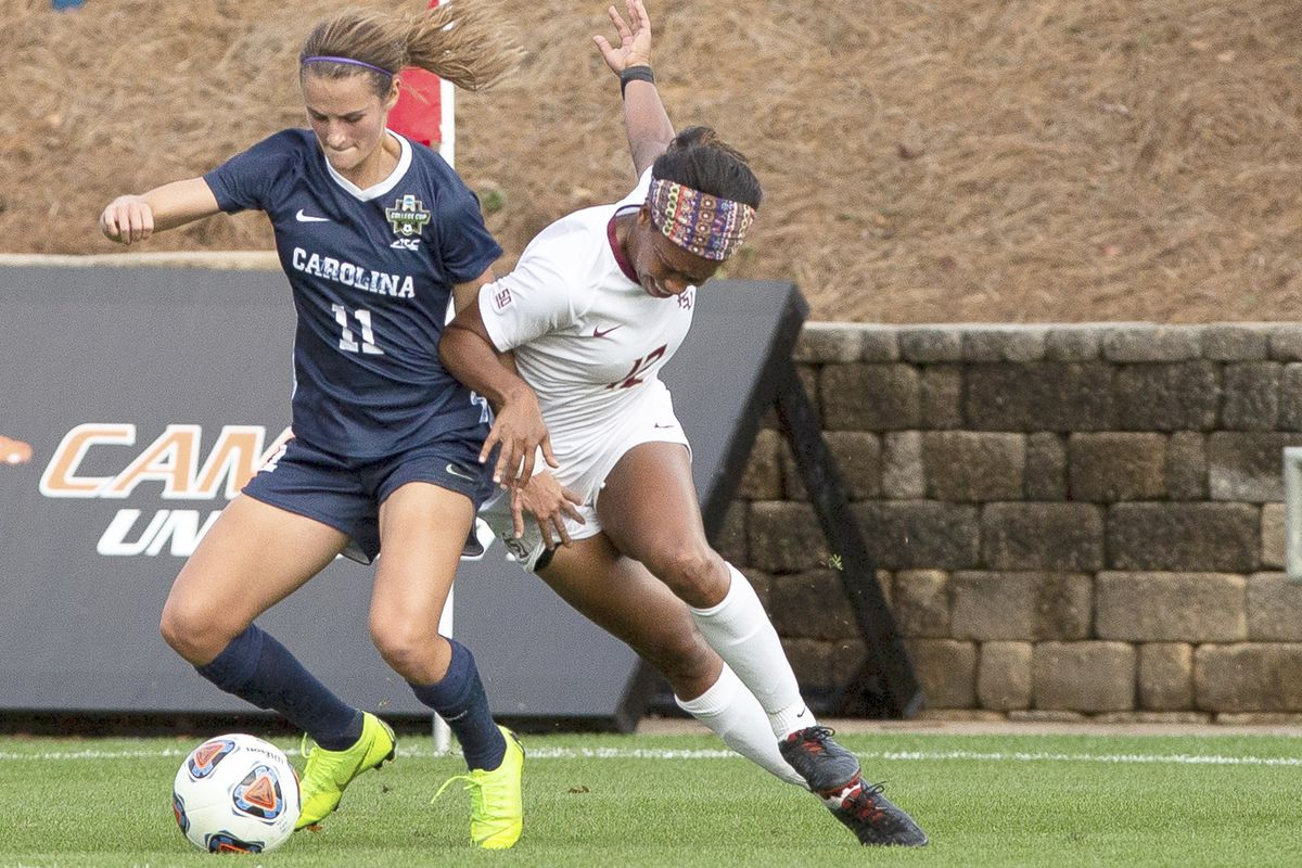 North Carolina defender-midfielder Emily Fox (11) was the first player taken in the National Women's Soccer League draft Wednesday night, going to expansion team Racing Louisville.