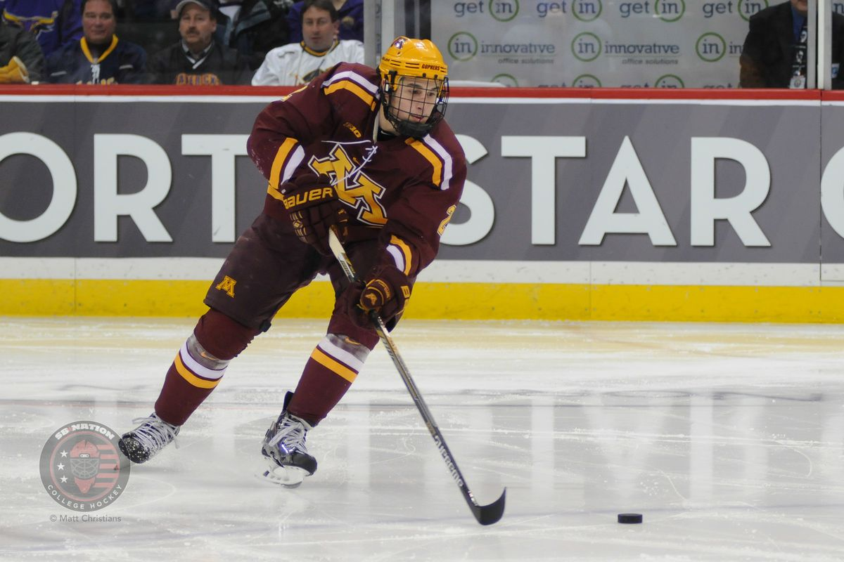 Brady Skjei (2) is one of several players counted upon on Minnesota's blue line.