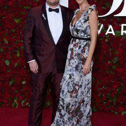 James Corden in Burberry, with Julia Carey
