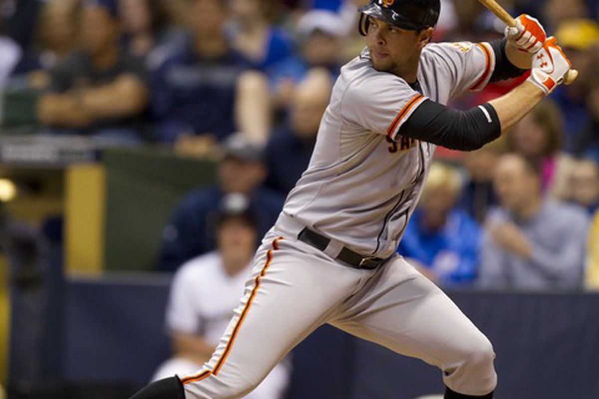 Brandon Belt's recent power surge is raising the hopes of his heretofore frustrated fantasy owners.  Mandatory Credit: Jeff Hanisch-US PRESSWIRE