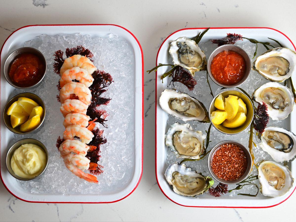 Shellfish platter from Billingsgate