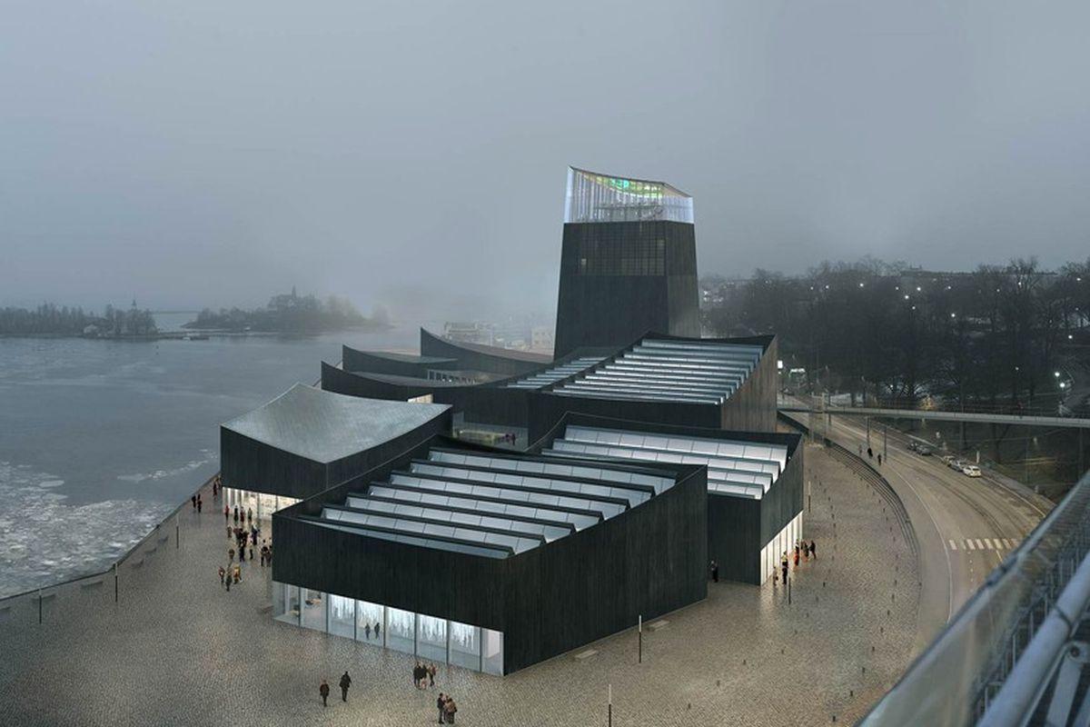 rendering of proposed Guggenheim Helsinki museum