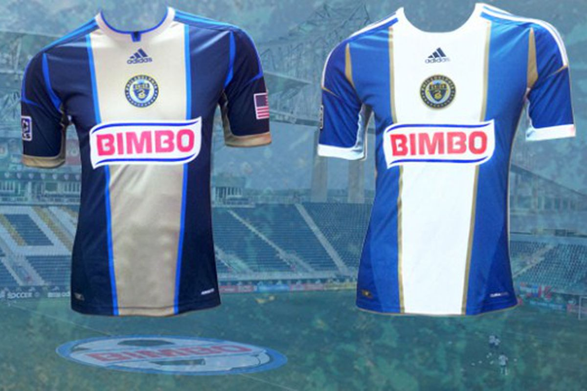 The new Philadelphia home and away jerseys, respectively, for the 2012-13 jersey cycle. (Photo courtesy of PhiladelphiaUnion.com)