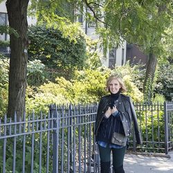 Courtney Weinblatt, Marie Claire: On the promenade near her apartment in Brooklyn Heights