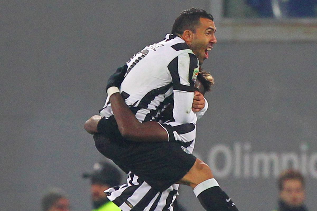 Paul Pogba and Carlos Tévez lead Juventus to a 3-0 win over Lazio