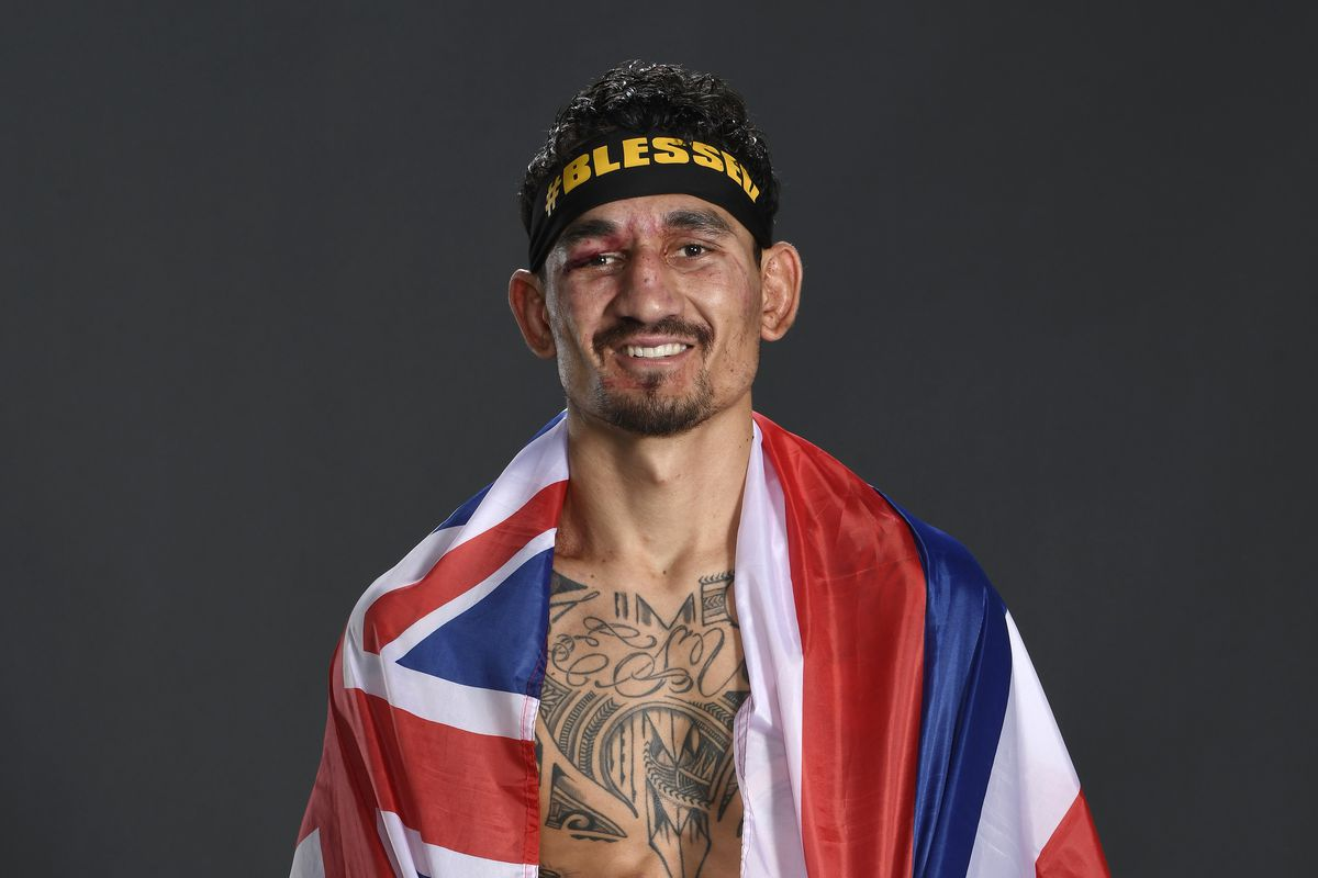 Former UFC champion Max Holloway right after his five-round war with Calvin Kattar in January.