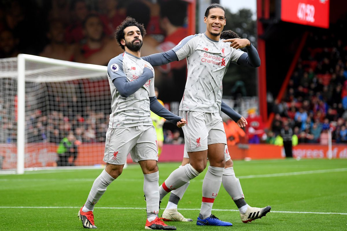 Mohamed Salah and Virgil van Dijk - Liverpool FC - Premier League