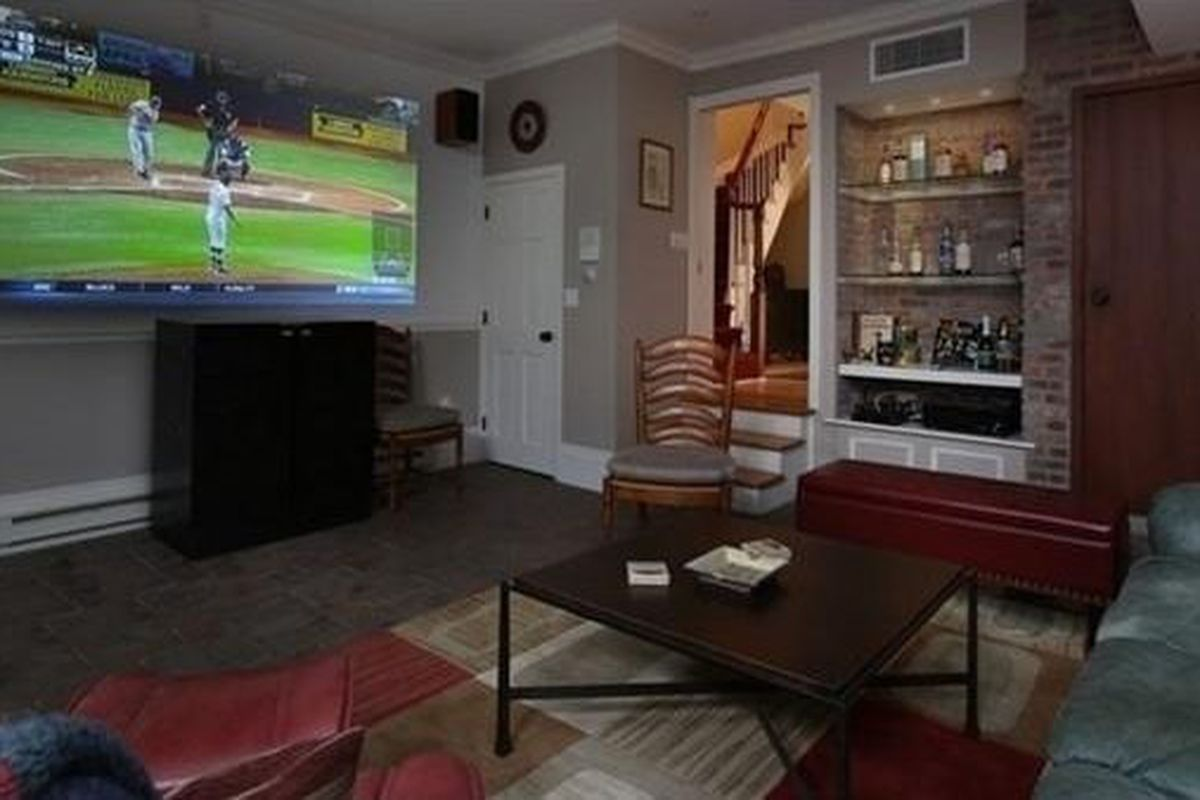 South End's 14 Rutland Square Is Back with a Man Cave - Curbed Boston