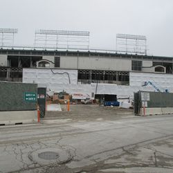 West front at Clark Street gate, new covers -