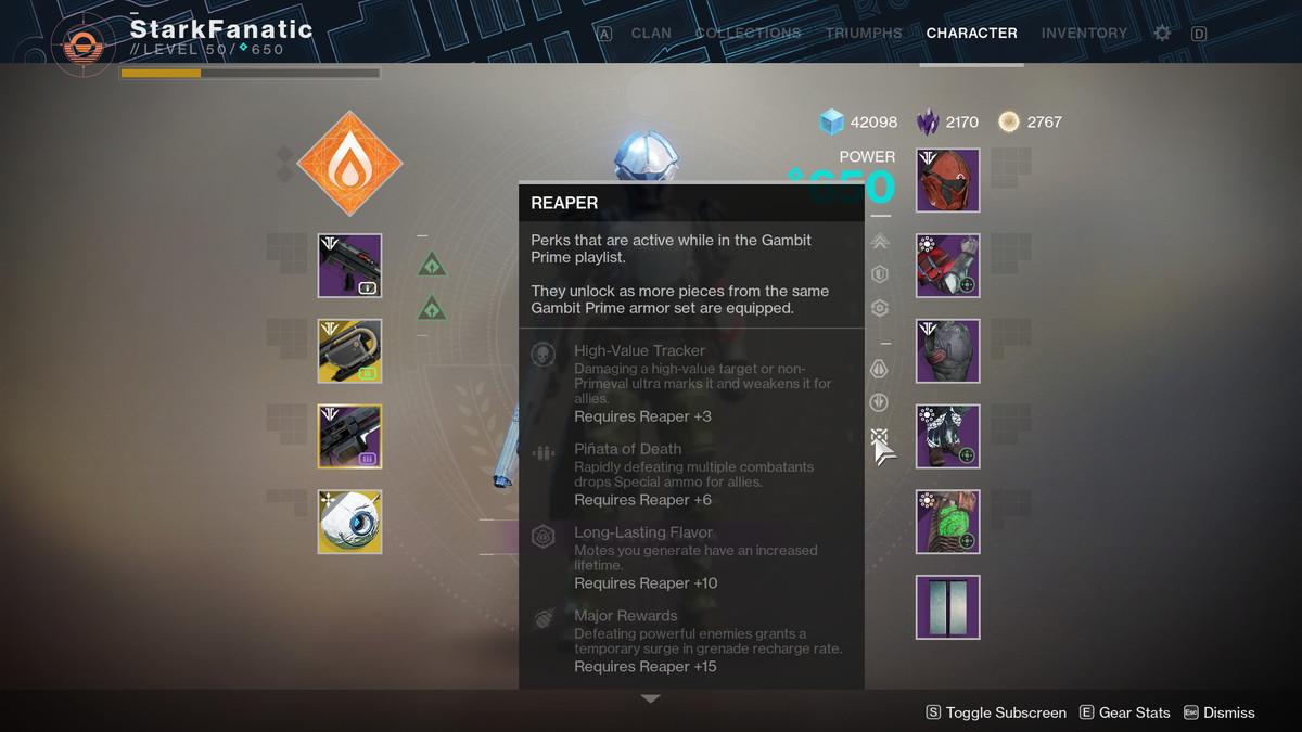 Gambit Prime armor sets — complete perk list - Polygon