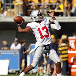 Kenny Guiton throws the first touchdown of the day.