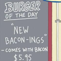 New Bacon-ings Burger. Episode 1, Human Flesh.