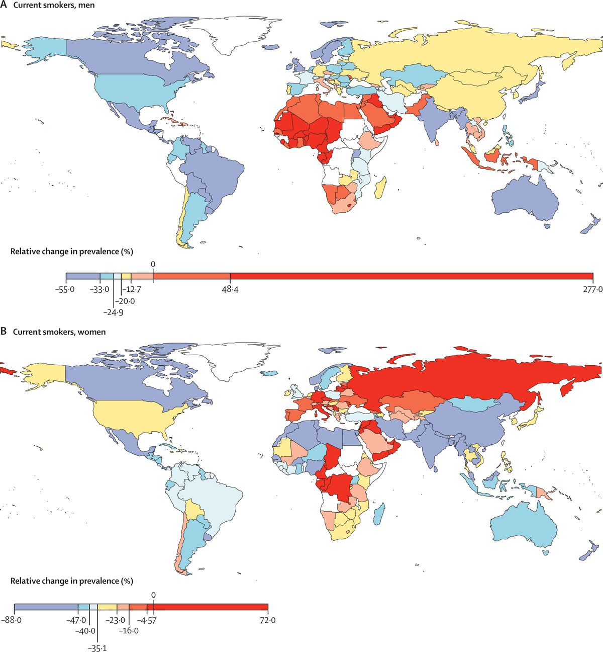 the prevalence of smoking has fallen considerably in the us and other countries so industry efforts are moving to where business is booming the lancet