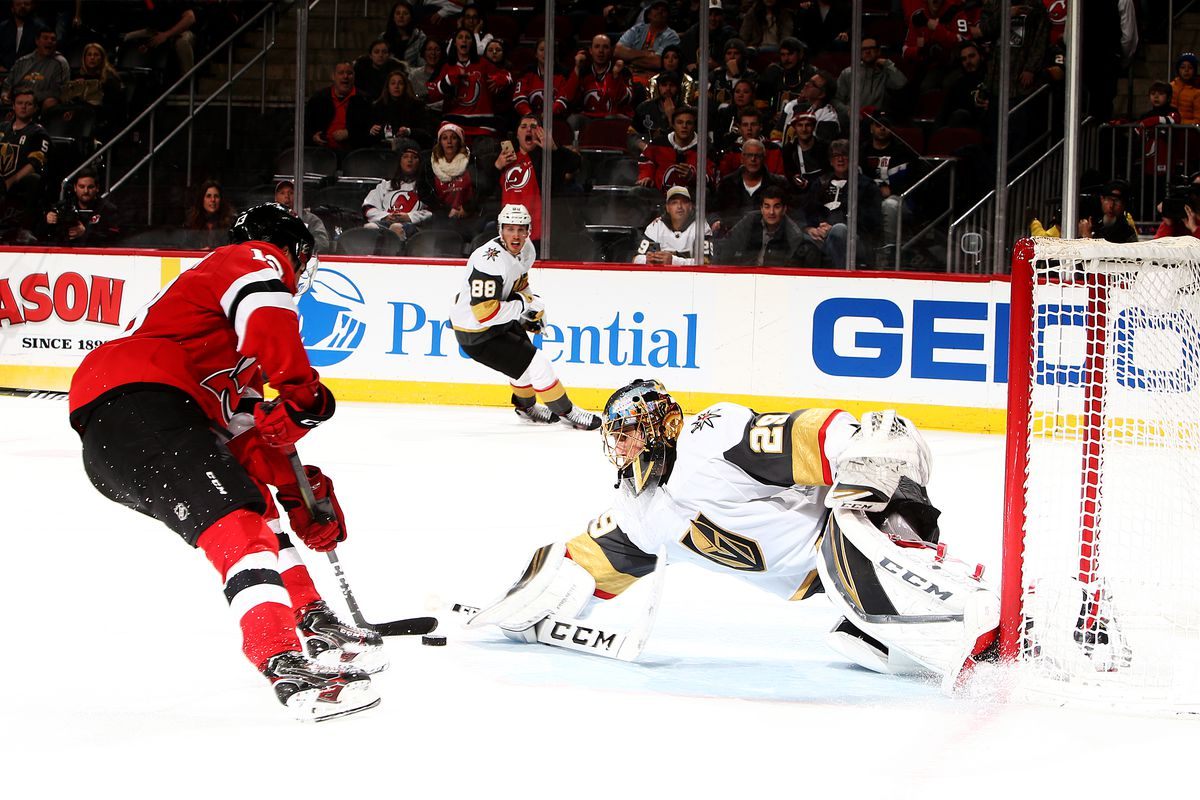 Nico Hischier scored a goal about a second after this photograph was taken.  Photo by Al Bello Getty Images a95495e0d