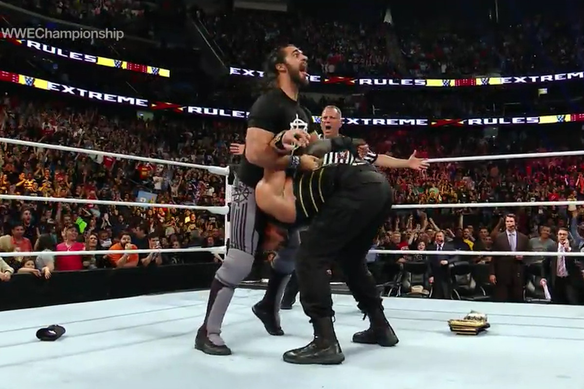 Wwe Went Rolling Right On Through The Prudential Center In Newark New Jersey Last Night Sun May   With Extreme Rules The Gimmick Show That Has