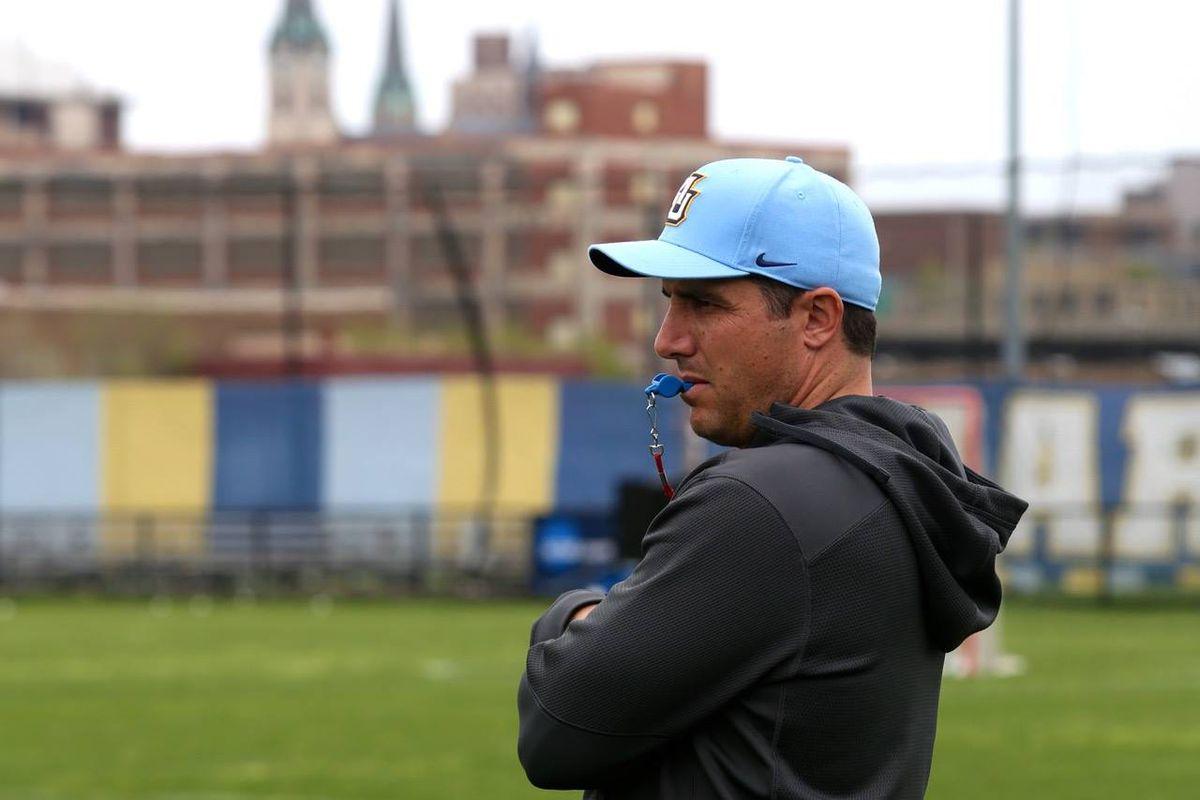 Marquette men's lacrosse head coach Joe Amplo