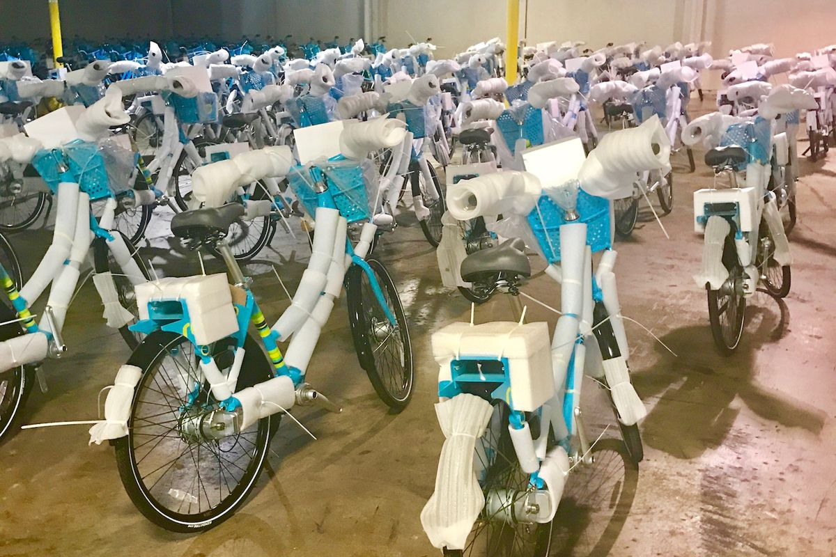 Hundreds of new bicycles for Atlanta's bike share system.