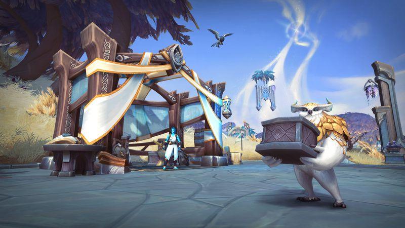 Kyrian owl in Bastion zone Shadowlands
