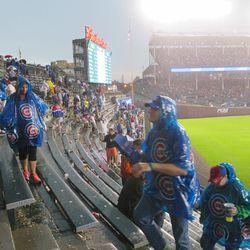 7:54 p.m. The right-field bleachers -