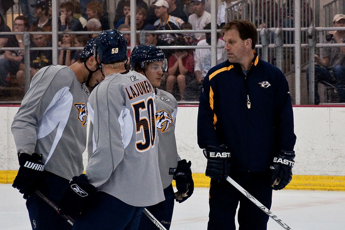 """Ian Herbers instructing players in July 2011. Photo courtesy of <a href=""""http://www.flickr.com/photos/paulnich/5899639553/"""" target=""""new"""">Paul Nicholson via Flickr</a>."""
