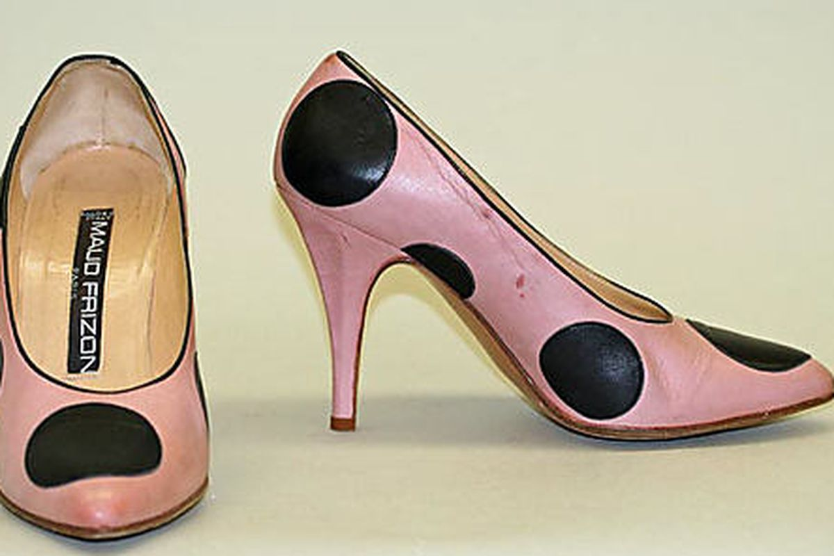 """A vintage pair of Maud Frizon shoes from the Met Museum's <a href=""""http://www.metmuseum.org/collection/the-collection-online/search?&amp;rpp=60&amp;what=Footwear&amp;who=Maud+Frizon&amp;pg=1"""">collection</a>"""