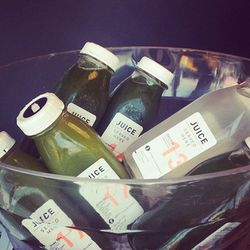 """<a href=http://juiceservedhere.com/"""">Juice Served Here</a> provided the post-workout thirst quenchers."""