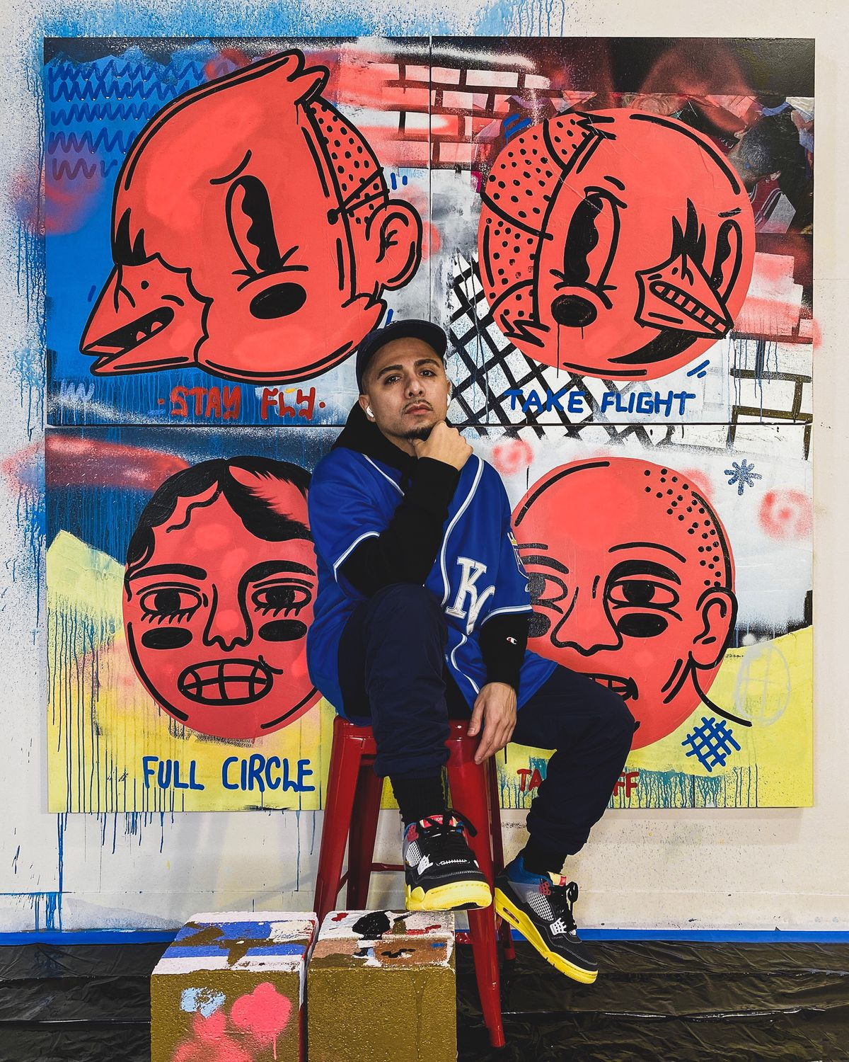 Joseph Perez — who uses the name Sentrock for his art — is a Chicago artist who's been doing murals since 2012. He operates out of a Pilsen studio.