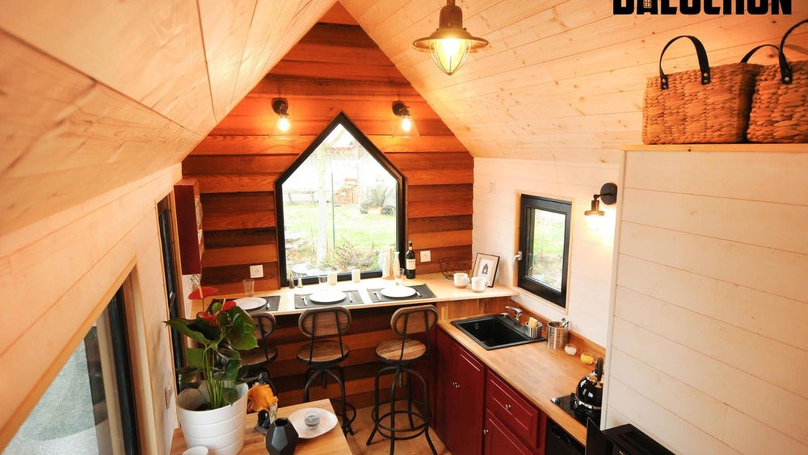 French tiny house comfortably fits family of three