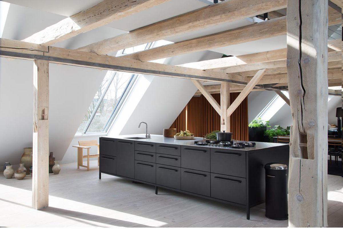 Loft with open kitchen