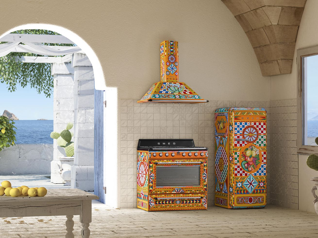 Dolce & Gabbana?s vibrant appliance line for Smeg expands again