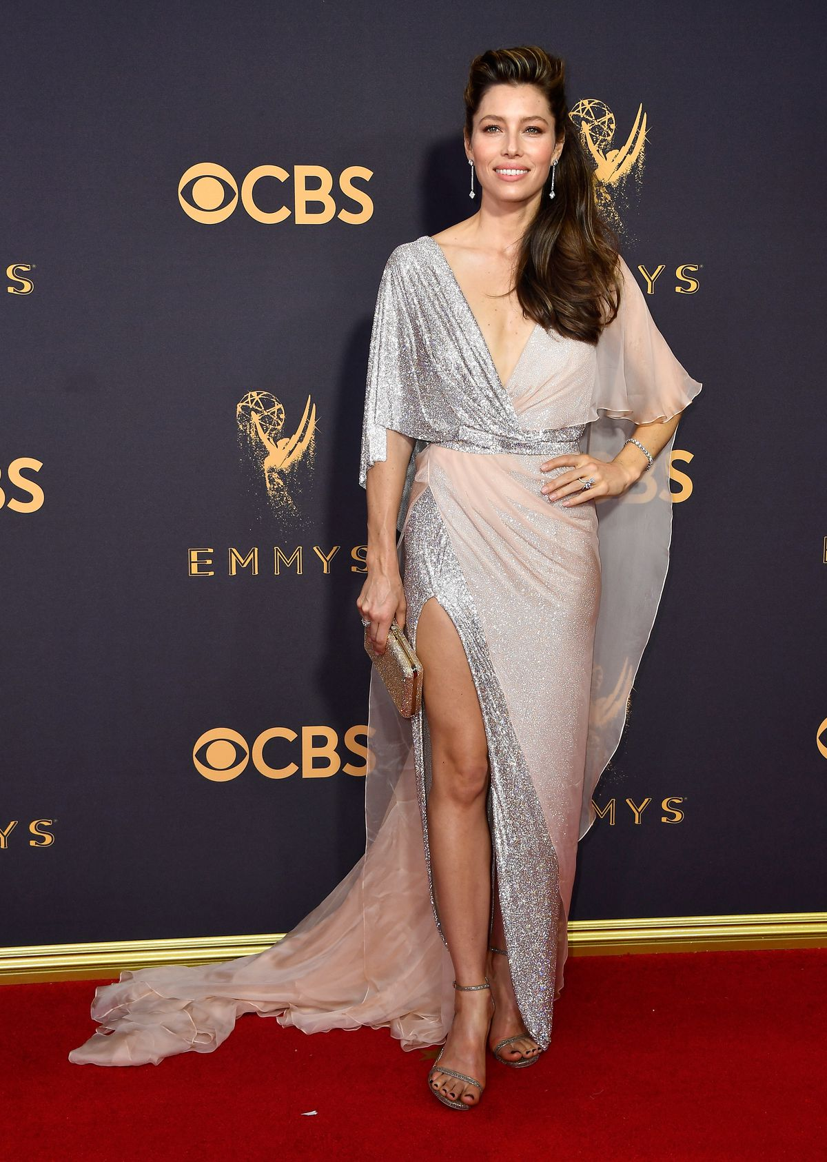 Jessica Biel in Ralph and Russo Couture at the 2017 Emmys