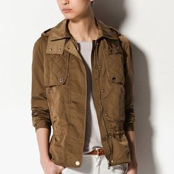 """<b>Massimo Dutti</b> Nylon Parka with Quilted Detailing, <a href=""""Http://massimodutti.com"""">$128.00</a>"""