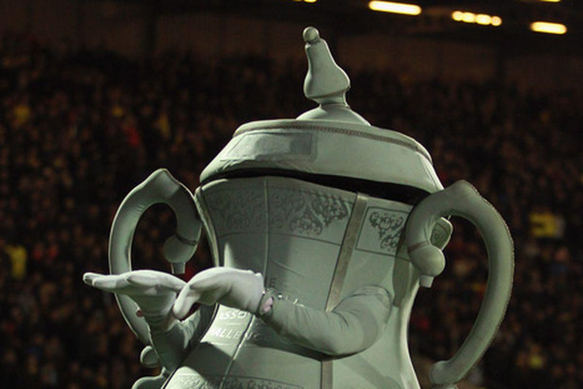 This is FA Cup mascot, hmmmmmmmmm