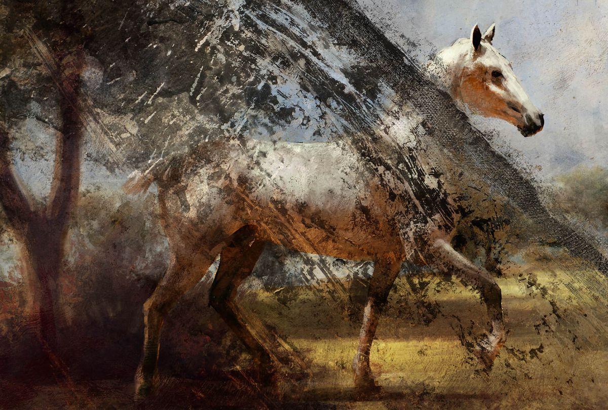 Battlefield 2018 teaser - horse painting