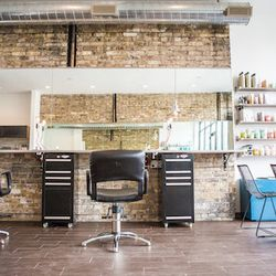Now open in Lincoln Park, Lavender Park has a rustic style with exposed brick walls, Edison bulb light fixtures, and big windows overlooking the park. The full-service spot specializes strictly in hair, and services include color, cuts, and blow-outs.