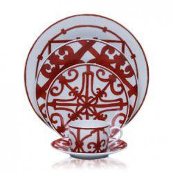 Hermes Balcon Du Guadalquivir China: tea cup & saucer, $140; bread & butter, $90; dessert, $105; dinner $140