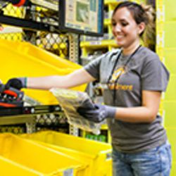 An Amazon employee fills orders at one of the company's fulfillment facilities. Gov. Gary Herbert announced Thursday, June 8, 2017, that Amazon will be building a new, $200 million fulfillment center in Utah.